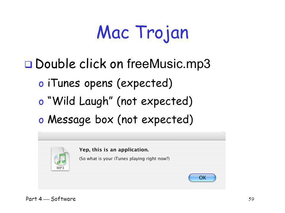 Mac Trojan Double click on freeMusic.mp3 iTunes opens (expected)