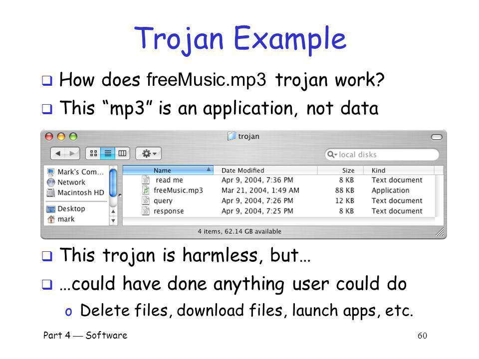 Trojan Example How does freeMusic.mp3 trojan work
