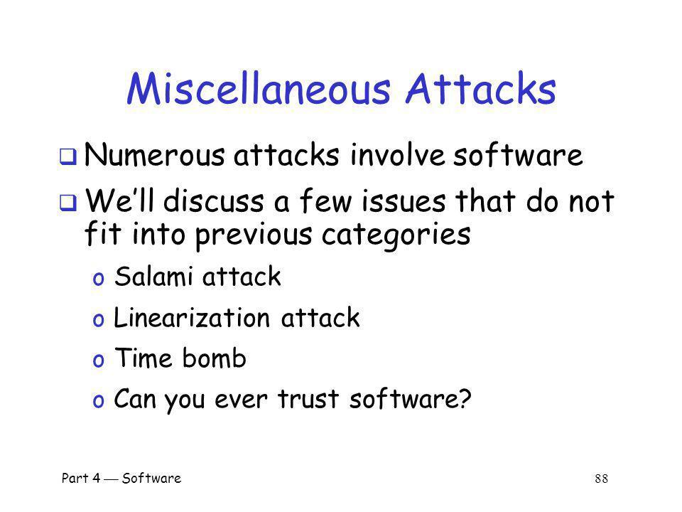 Miscellaneous Attacks