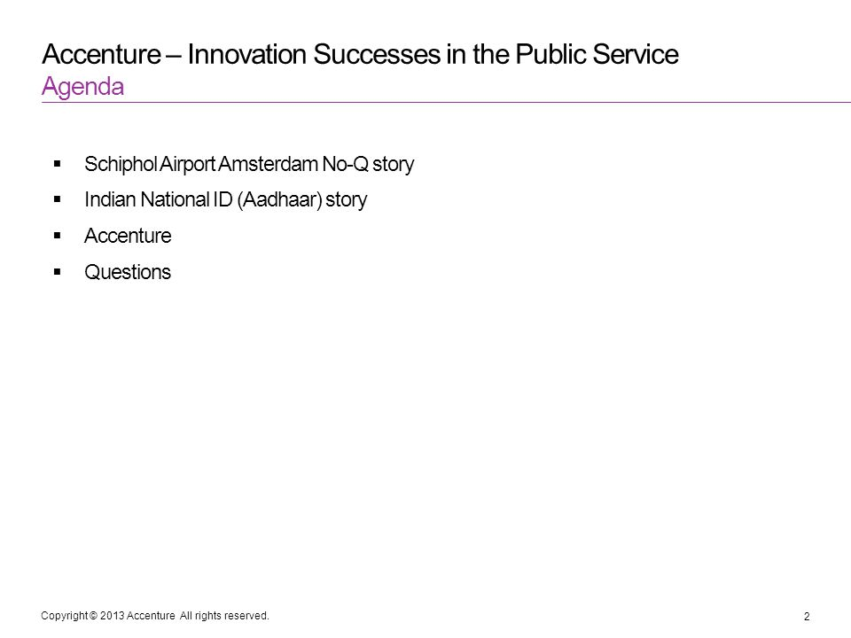 Accenture – Innovation Successes in the Public Service