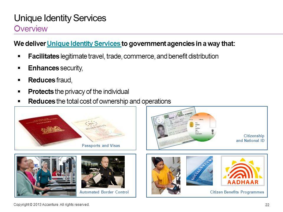Unique Identity Services