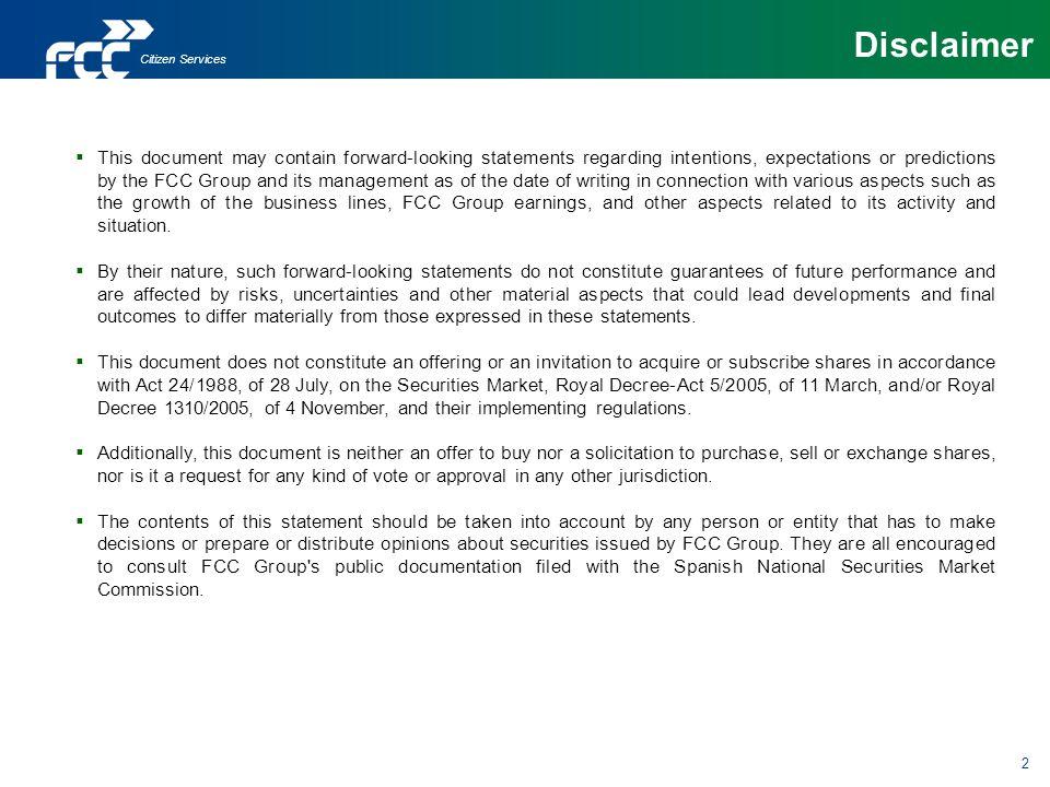 Disclaimer Citizen Services.