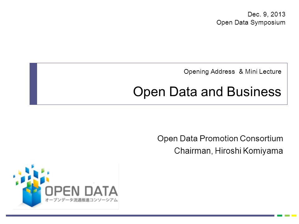 Open Data - Trend and Examples of Utilization