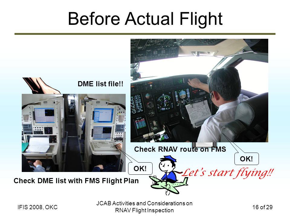 Check DME list with FMS Flight Plan