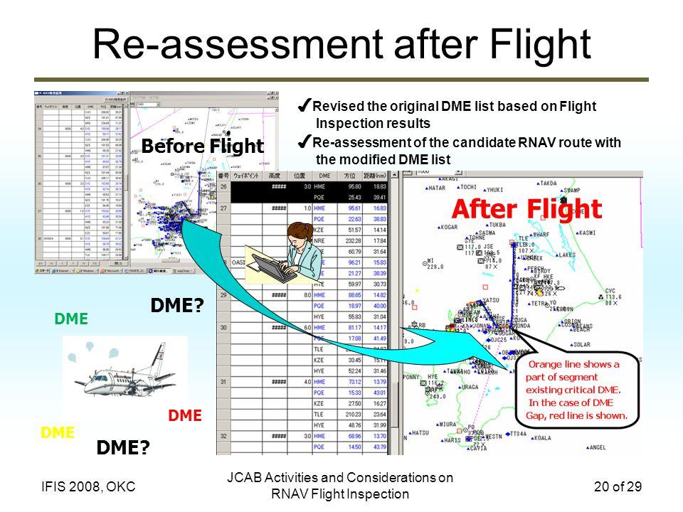 Re-assessment after Flight