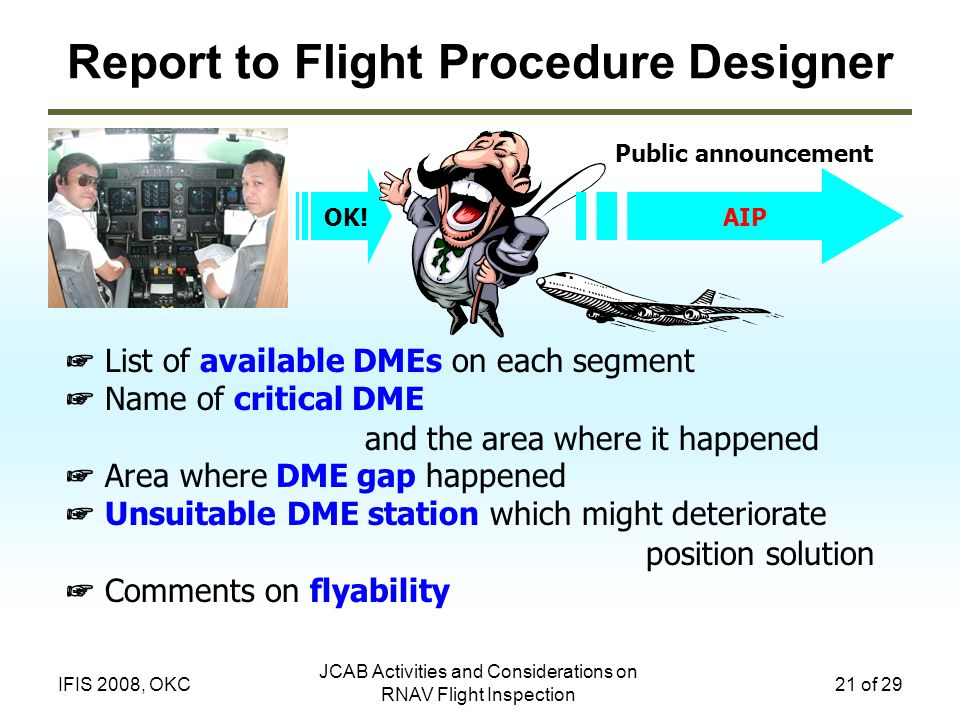 Report to Flight Procedure Designer