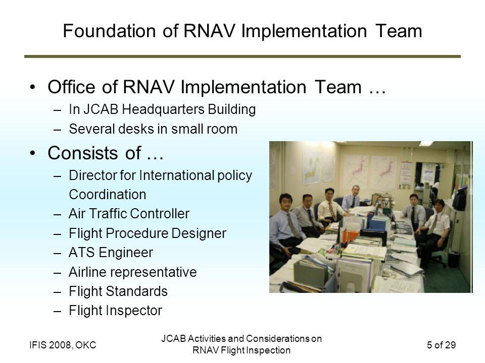 Foundation of RNAV Implementation Team