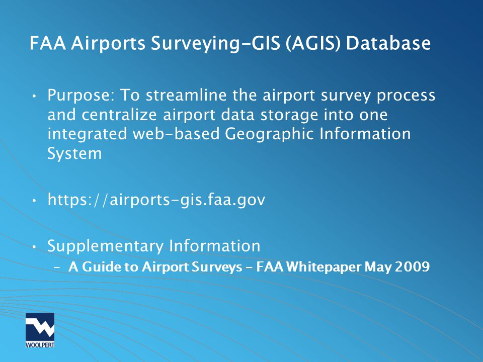 FAA Airports Surveying-GIS (AGIS) Database