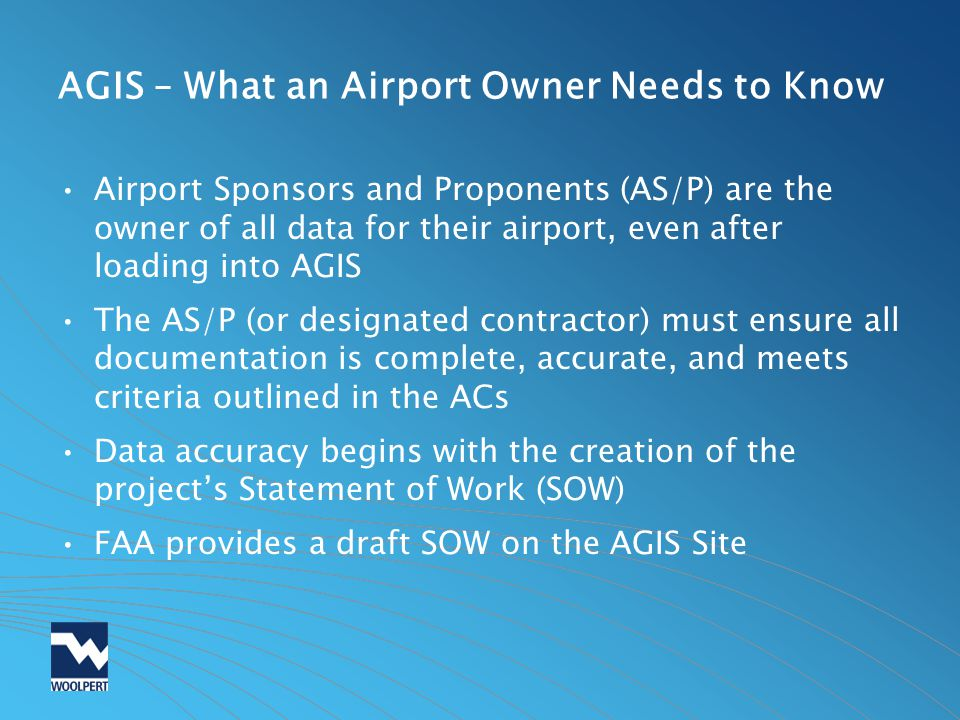 AGIS – What an Airport Owner Needs to Know