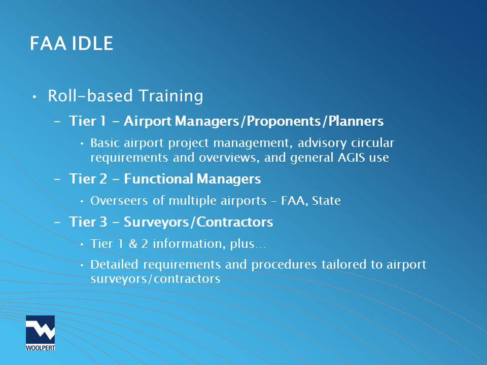 FAA IDLE Roll-based Training
