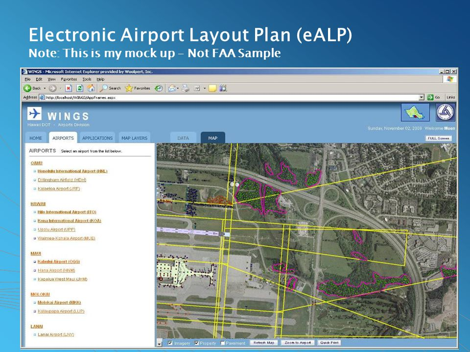 Electronic Airport Layout Plan (eALP) Note: This is my mock up – Not FAA Sample