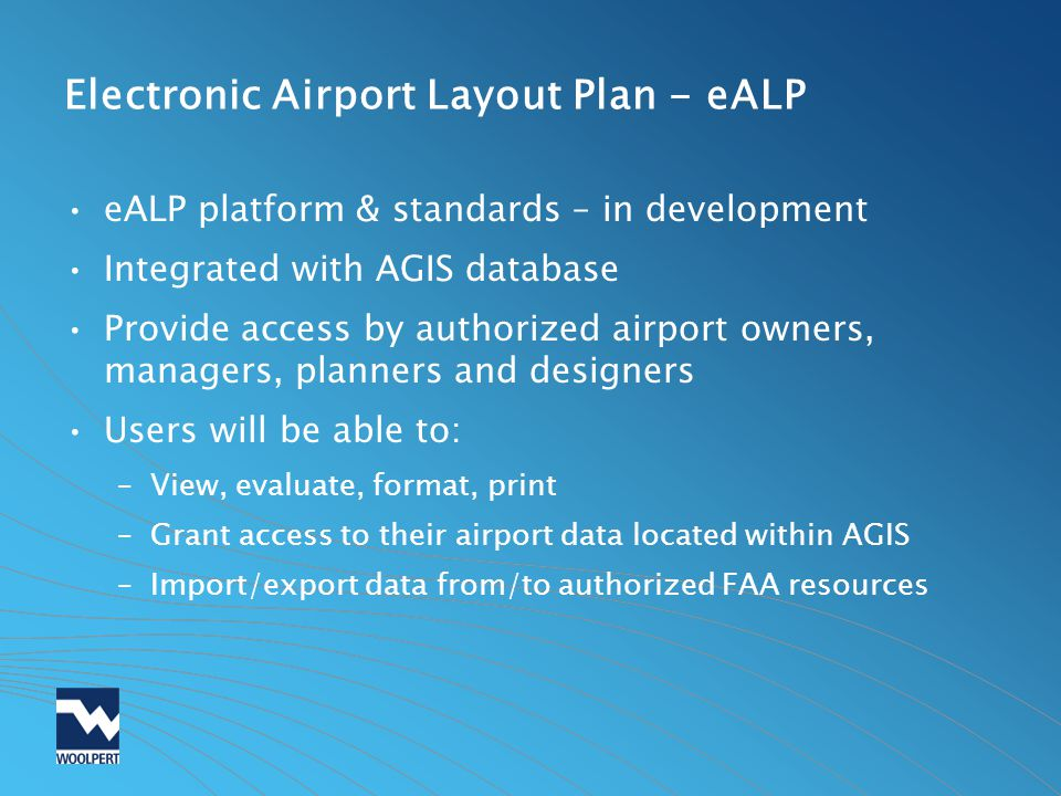 Electronic Airport Layout Plan - eALP