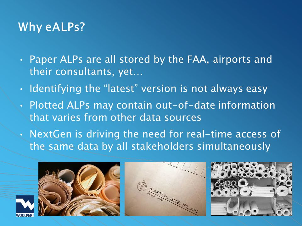 Why eALPs Paper ALPs are all stored by the FAA, airports and their consultants, yet… Identifying the latest version is not always easy.