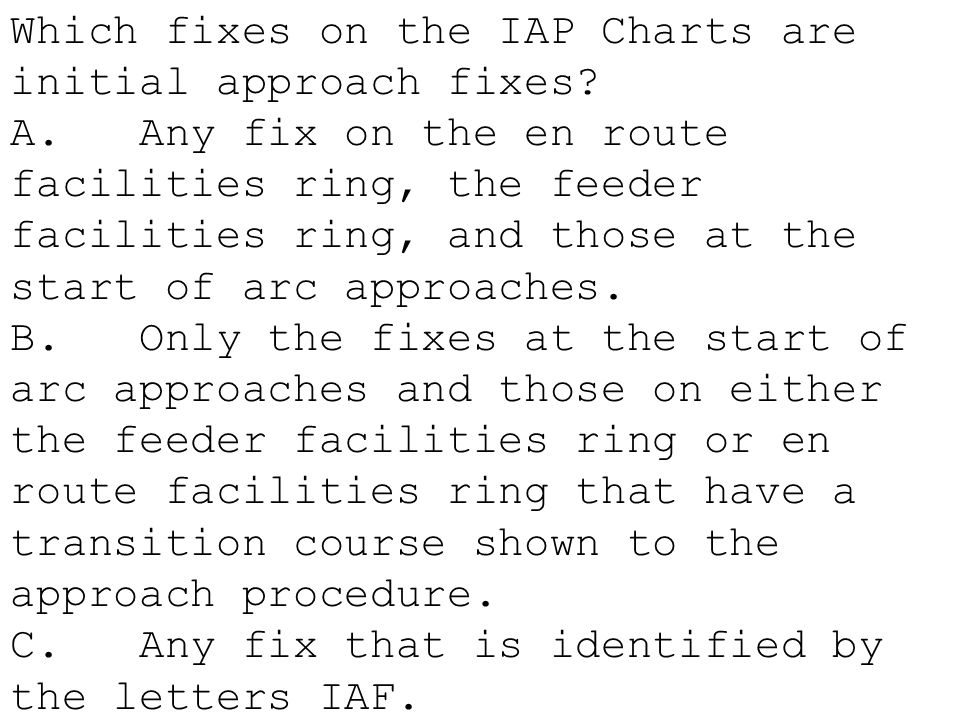 Which fixes on the IAP Charts are initial approach fixes