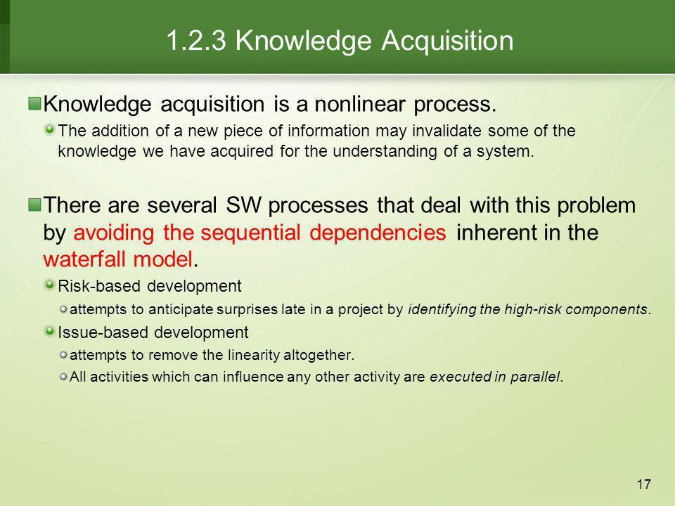 1.2.3 Knowledge Acquisition