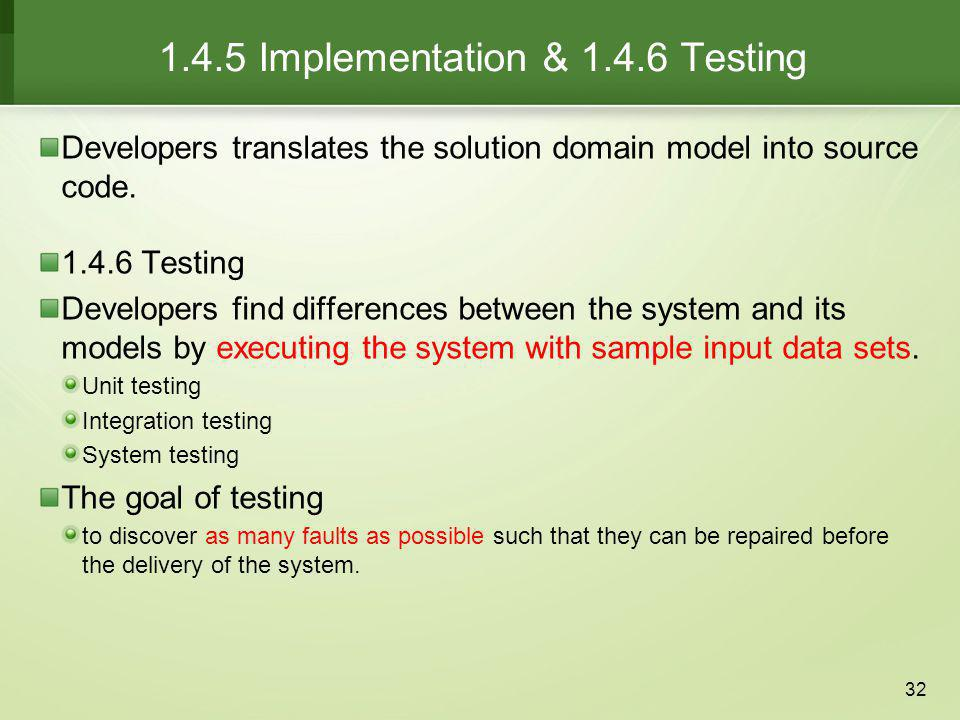 1.4.5 Implementation & Testing