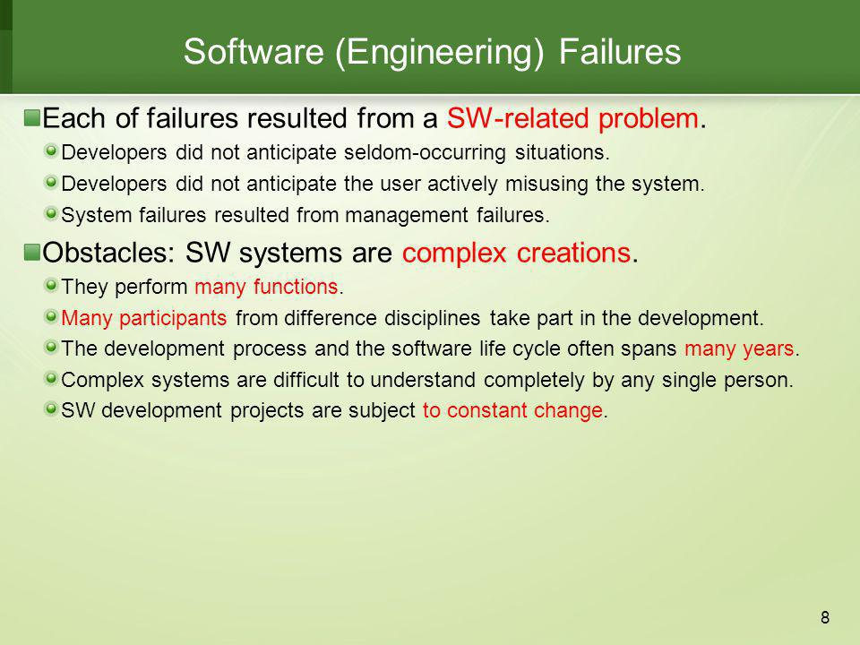 Software (Engineering) Failures