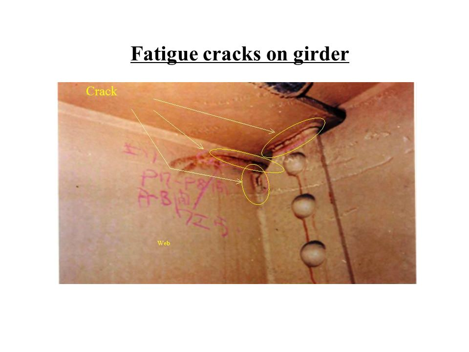 Fatigue cracks on girder