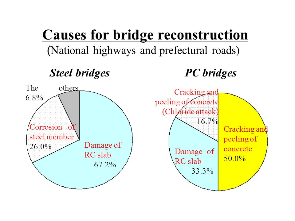 Causes for bridge reconstruction (National highways and prefectural roads)