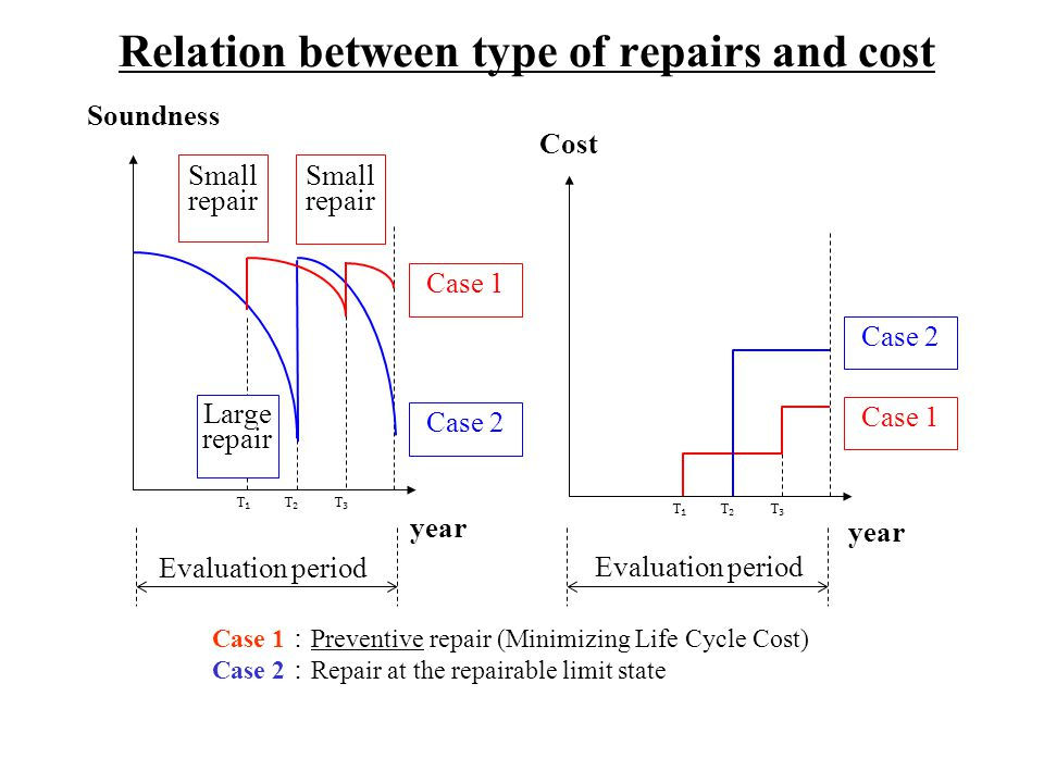 Relation between type of repairs and cost