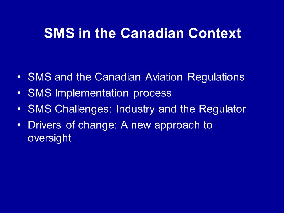 SMS in the Canadian Context