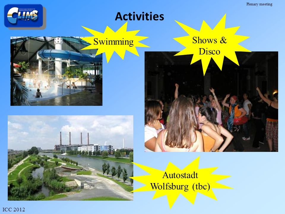 Activities Swimming Shows & Disco Autostadt Wolfsburg (tbc)
