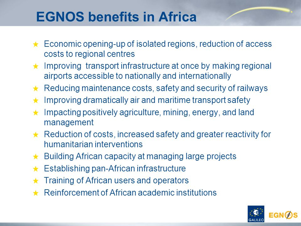 EGNOS benefits in Africa