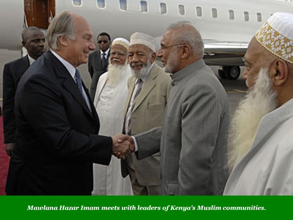 Mawlana Hazar Imam meets with leaders of Kenya s Muslim communities.