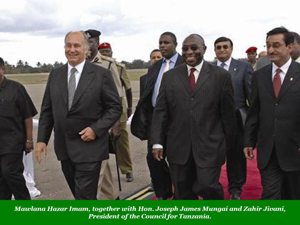 Mawlana Hazar Imam, together with Hon