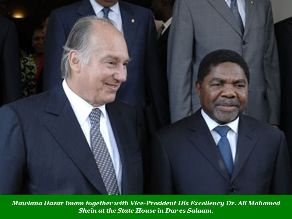 Mawlana Hazar Imam together with Vice-President His Excellency Dr