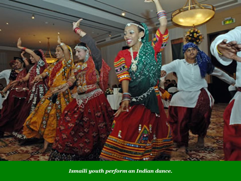 Ismaili youth perform an Indian dance.