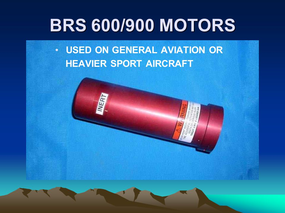 BRS 600/900 MOTORS USED ON GENERAL AVIATION OR HEAVIER SPORT AIRCRAFT
