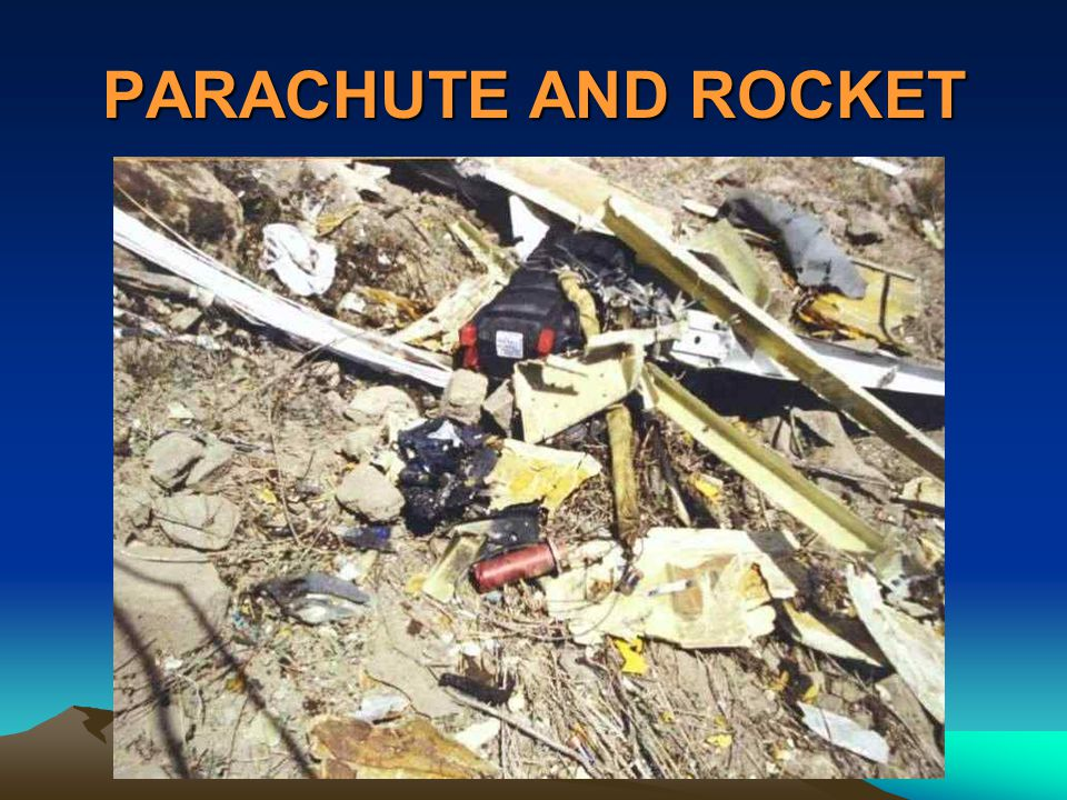 PARACHUTE AND ROCKET