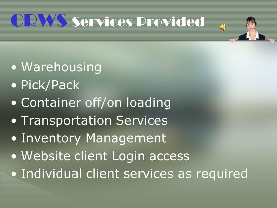 CRWS Services Provided