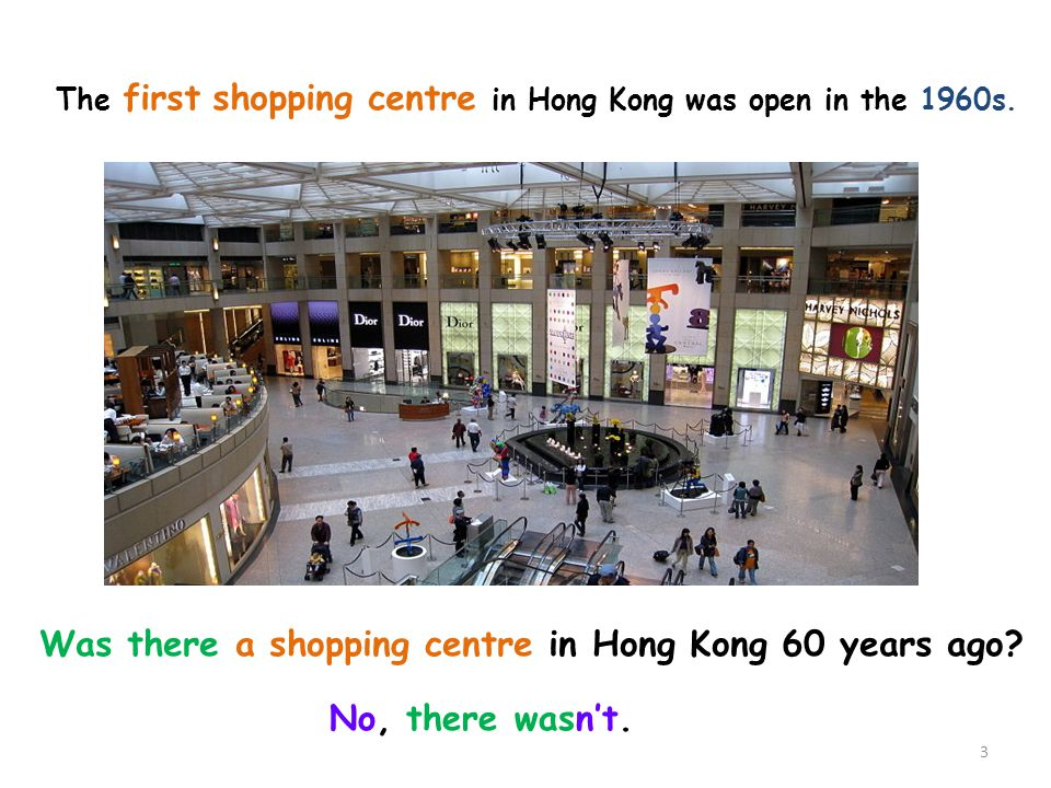 Was there a shopping centre in Hong Kong 60 years ago