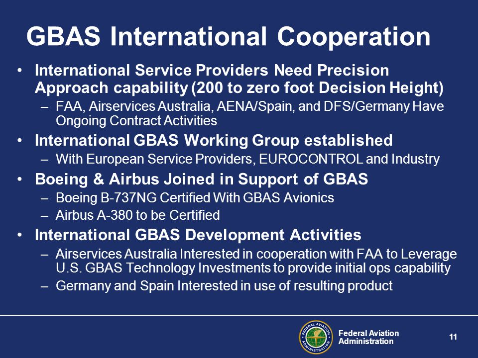 GBAS International Cooperation