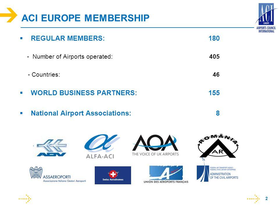 ACI EUROPE MEMBERSHIP REGULAR MEMBERS: 180