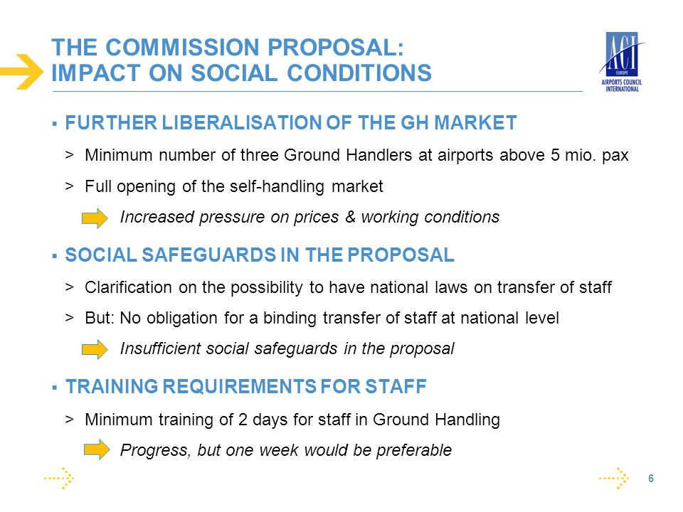 THE COMMISSION PROPOSAL: IMPACT ON SOCIAL CONDITIONS