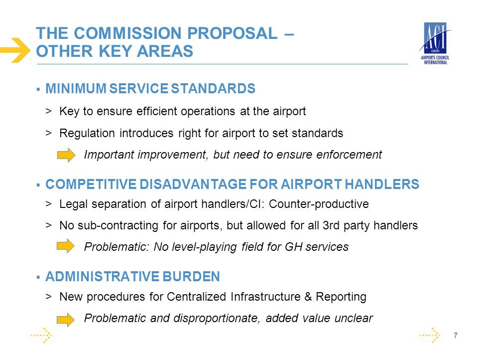 THE COMMISSION PROPOSAL – OTHER KEY AREAS