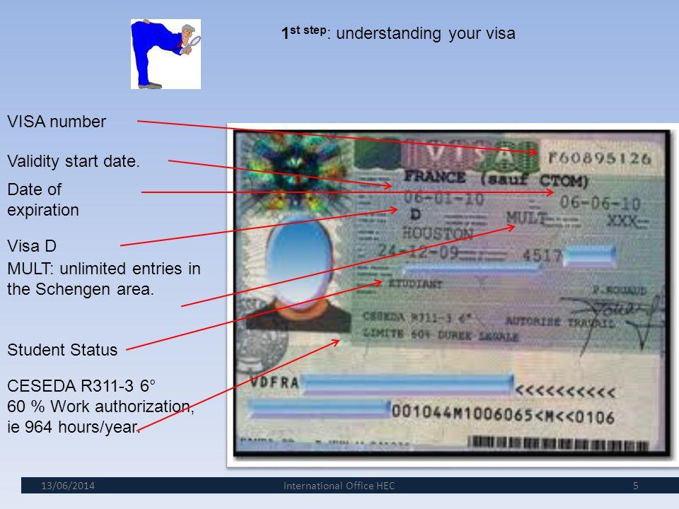 1st step: understanding your visa