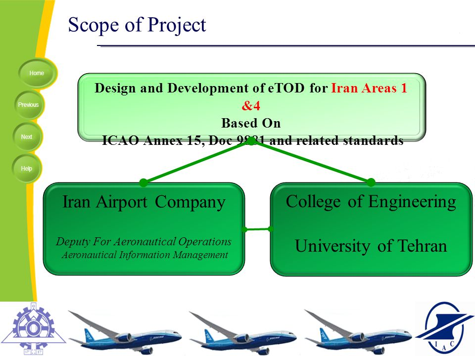 Scope of Project Iran Airport Company College of Engineering