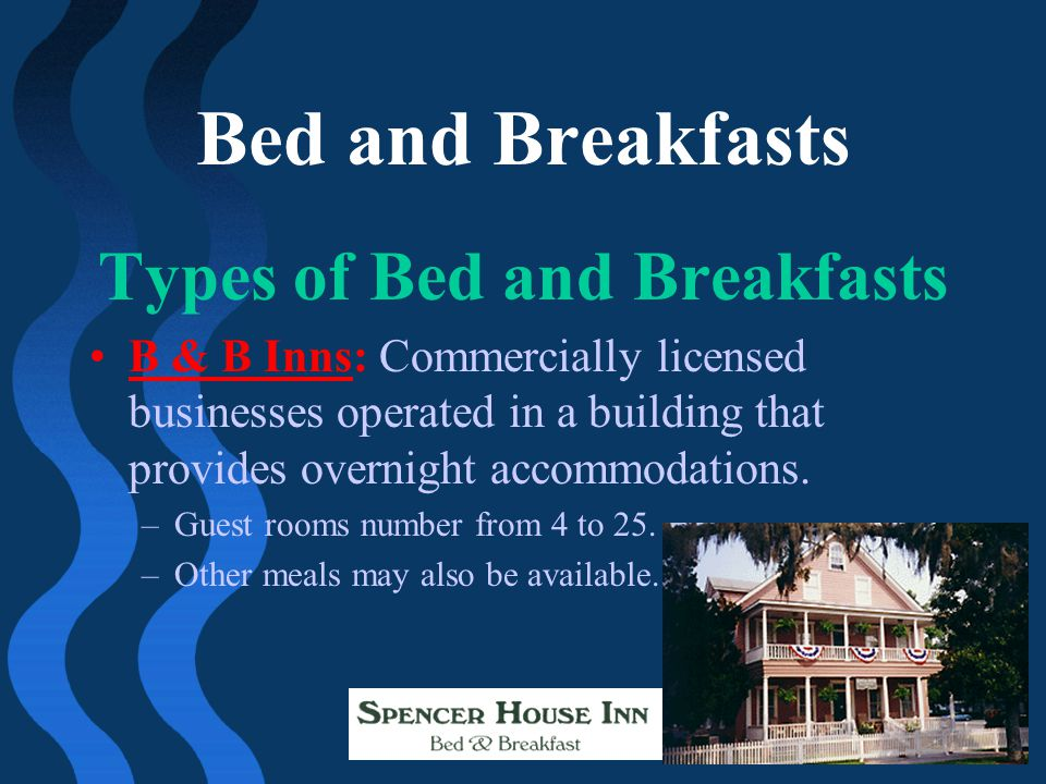 Types of Bed and Breakfasts