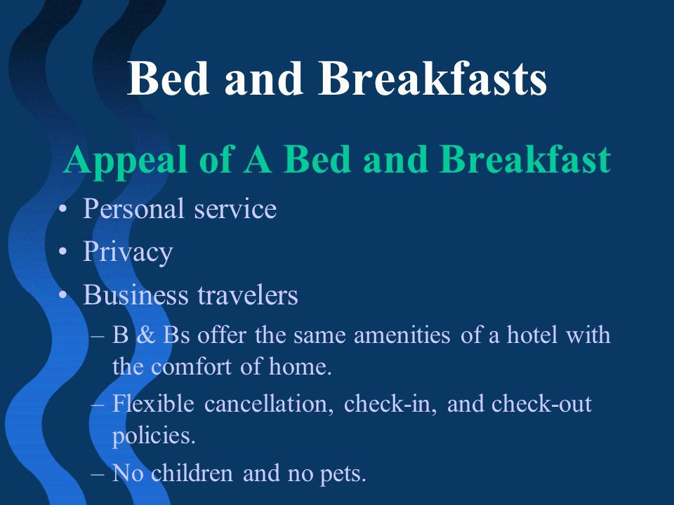 Appeal of A Bed and Breakfast