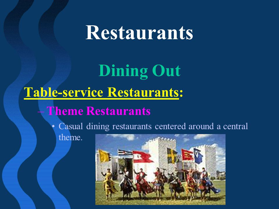 Restaurants Dining Out Table-service Restaurants: Theme Restaurants
