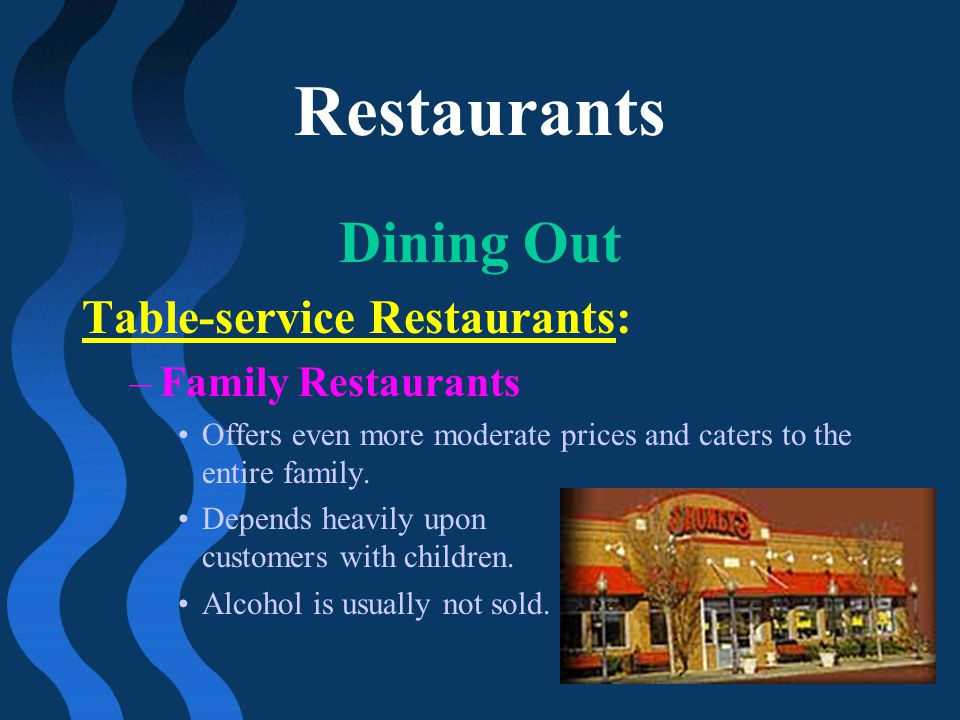 Restaurants Dining Out Table-service Restaurants: Family Restaurants