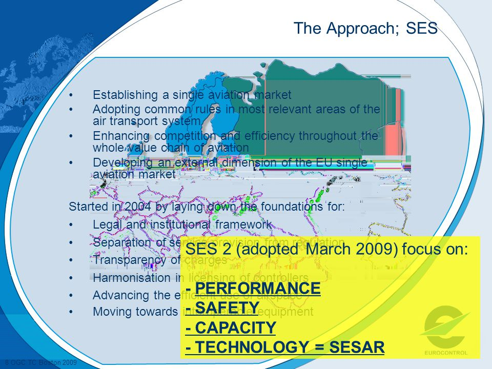 SES 2 (adopted March 2009) focus on: - PERFORMANCE - SAFETY - CAPACITY