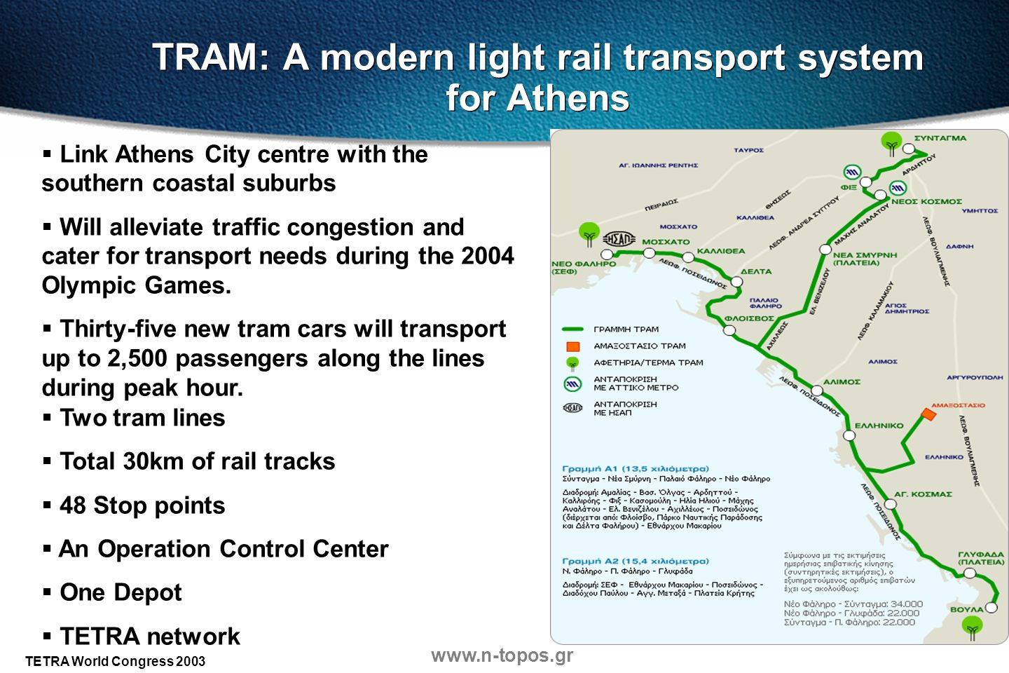 TRAM: A modern light rail transport system for Athens