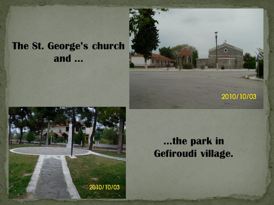 The St. George's church and …
