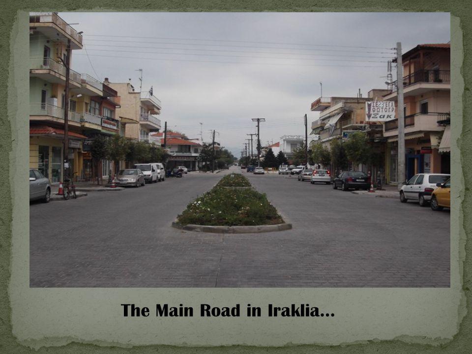 The Main Road in Iraklia…