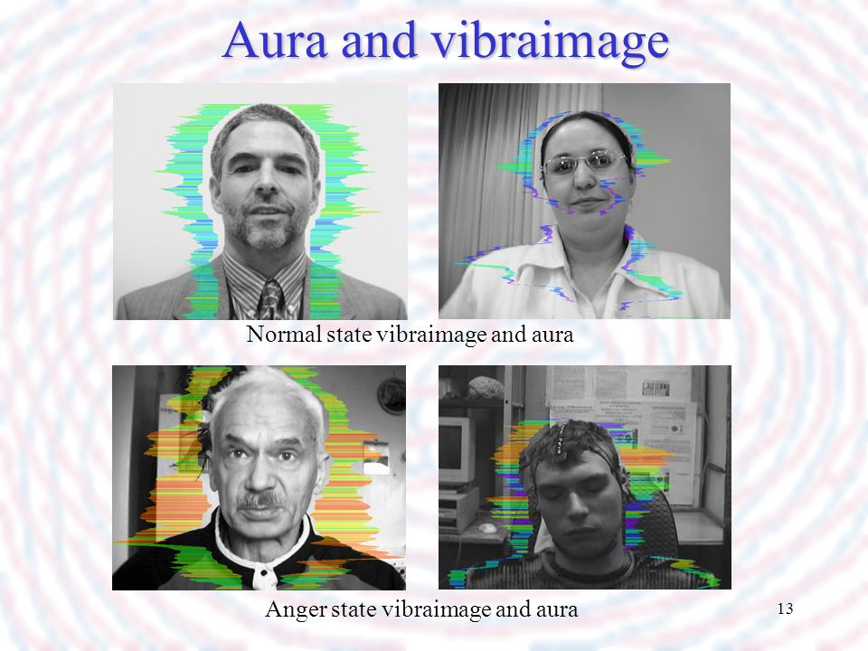 Aura and vibraimage Normal state vibraimage and aura